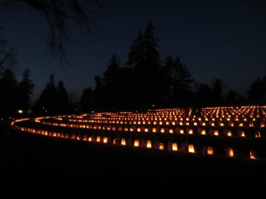 Remembrance night in Soldier's National Cemetery
