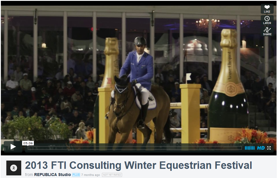 FTI Consulting Winter Equestrian Festival - Vimeo Video