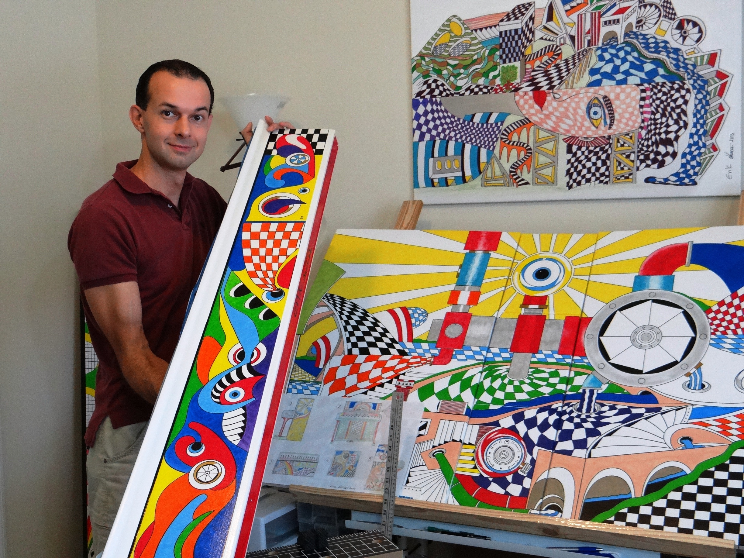 Erik Kučera at work in his studio.  Photo: Courtesy E. Kučera